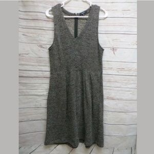 Madewell Terrace Marled-Knit Fitted Waist dress